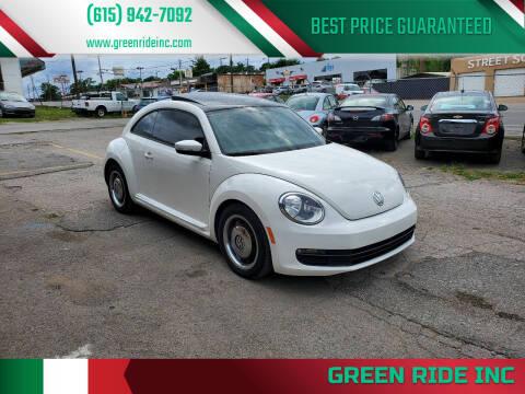 2012 Volkswagen Beetle for sale at Green Ride Inc in Nashville TN