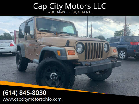 2000 Jeep Wrangler Sport for sale at Cap City Motors LLC in Columbus OH