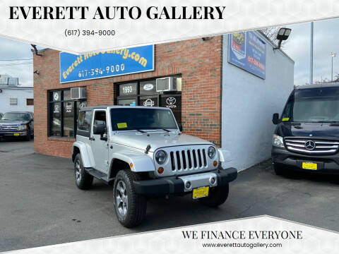 2012 Jeep Wrangler for sale at Everett Auto Gallery in Everett MA