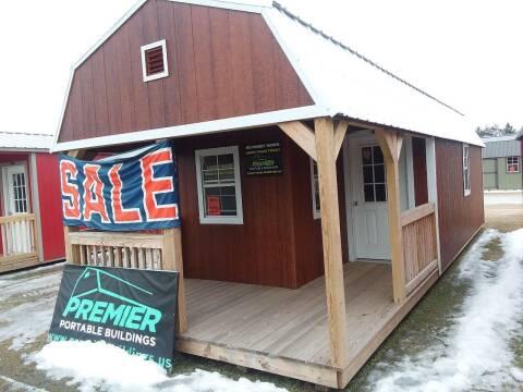2018 Premier Portable Building 12x32 Ura.  Lofted Barn Cabin for sale at Dave's Auto Sales & Service - Premier Buildings in Weyauwega WI