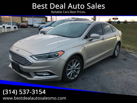 2017 Ford Fusion Energi for sale at Best Deal Auto Sales in Saint Charles MO