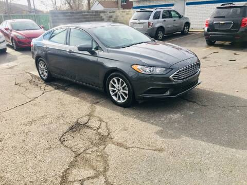 2017 Ford Fusion for sale at Big Three Auto Sales Inc. in Detroit MI