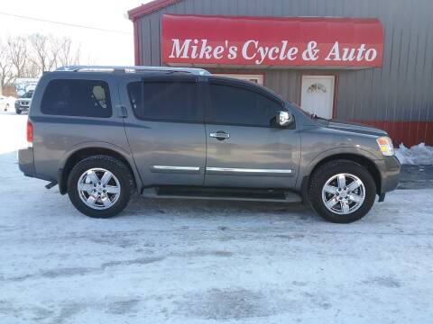2011 Nissan Armada for sale at MIKE'S CYCLE & AUTO in Connersville IN