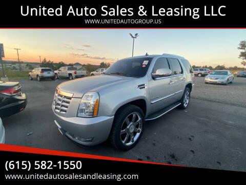 2012 Cadillac Escalade for sale at United Auto Sales & Leasing LLC in La Vergne TN
