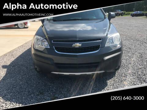 2013 Chevrolet Captiva Sport for sale at Alpha Automotive in Odenville AL
