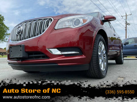 2015 Buick Enclave for sale at Auto Store of NC in Walkertown NC