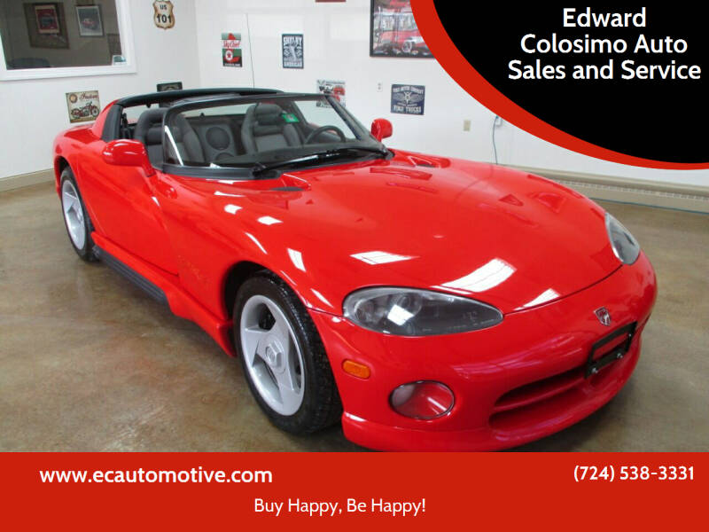 1993 Dodge Viper for sale at Edward Colosimo Auto Sales and Service in Evans City PA