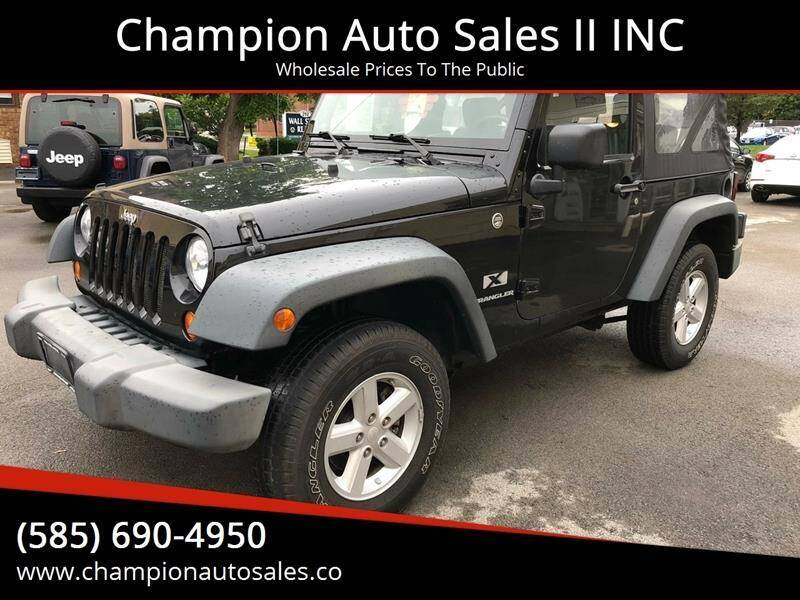 2008 Jeep Wrangler for sale at Champion Auto Sales II INC in Rochester NY