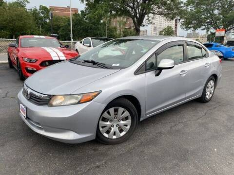 2012 Honda Civic for sale at Sonias Auto Sales in Worcester MA