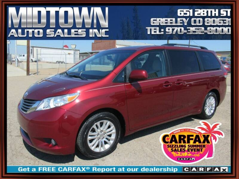 2013 Toyota Sienna for sale at MIDTOWN AUTO SALES INC in Greeley CO