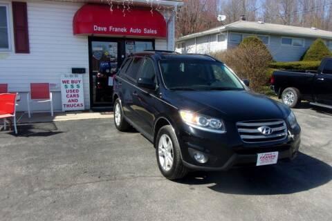 2012 Hyundai Santa Fe for sale at Dave Franek Automotive in Wantage NJ
