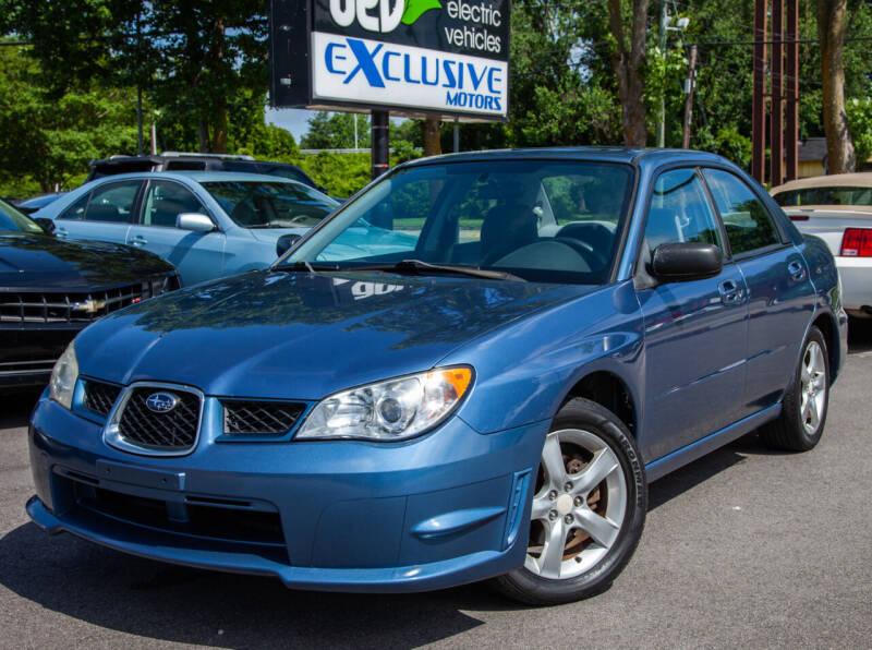 2007 Subaru Impreza for sale at EXCLUSIVE MOTORS in Virginia Beach VA