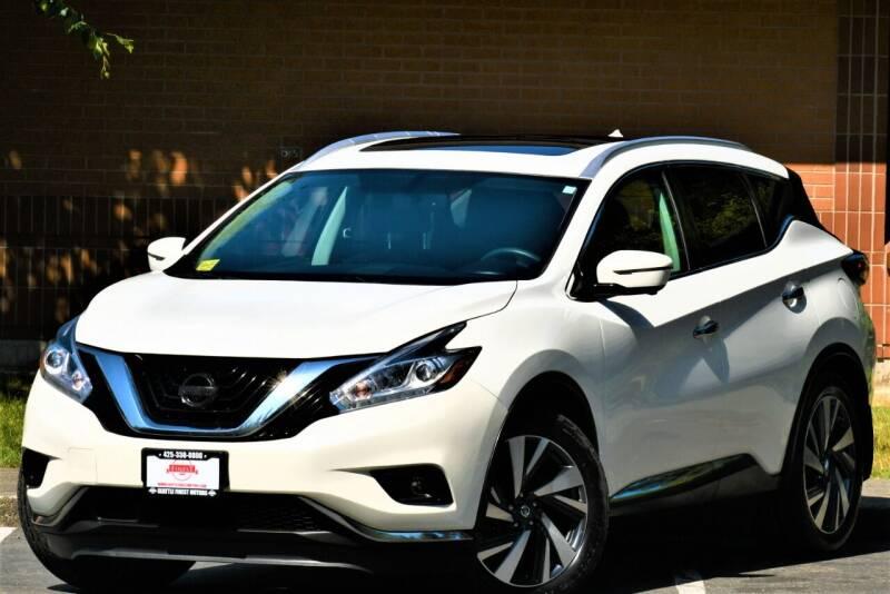 2016 Nissan Murano for sale at SEATTLE FINEST MOTORS in Lynnwood WA