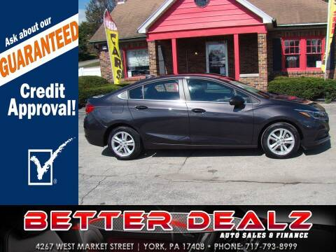 2017 Chevrolet Cruze for sale at Better Dealz Auto Sales & Finance in York PA