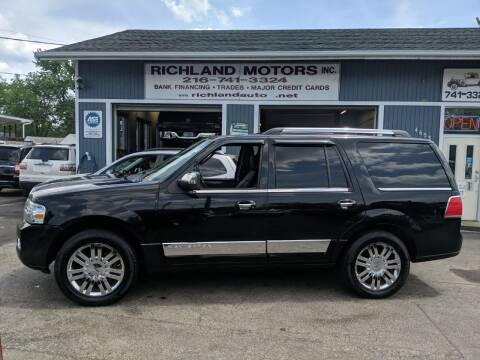 2008 Lincoln Navigator for sale at Richland Motors in Cleveland OH