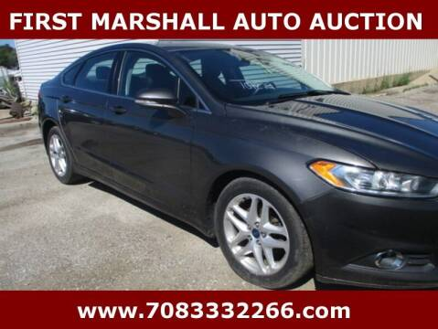2015 Ford Fusion for sale at First Marshall Auto Auction in Harvey IL