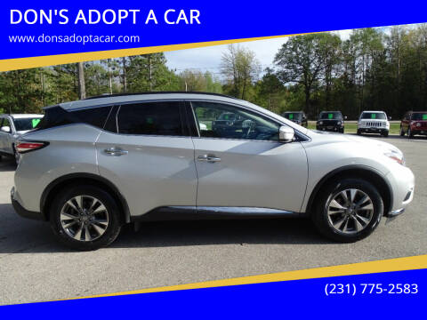 2018 Nissan Murano for sale at DON'S ADOPT A CAR in Cadillac MI