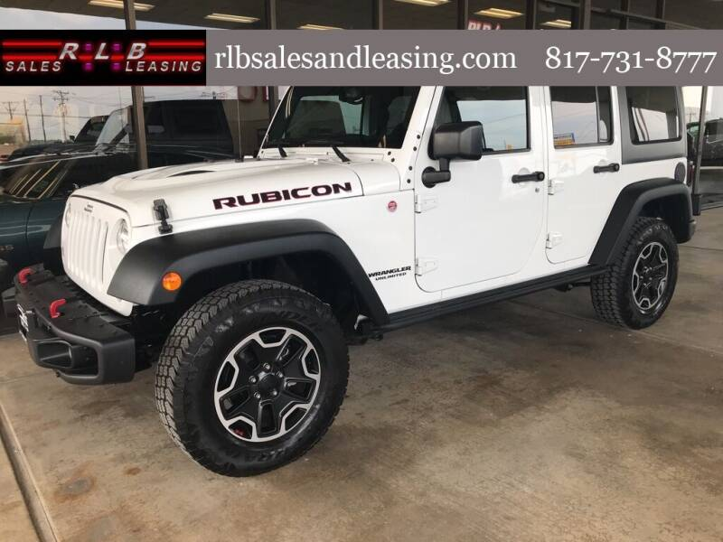 2015 Jeep Wrangler Unlimited for sale at RLB Sales and Leasing in Fort Worth TX