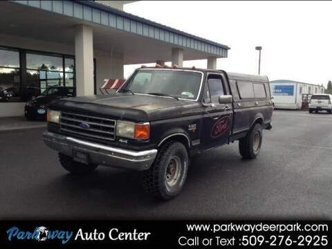1989 Ford F-150 for sale at PARKWAY AUTO CENTER AND RV in Deer Park WA
