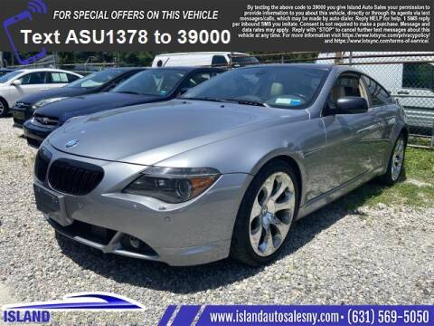 2005 BMW 6 Series for sale at Island Auto Sales in East Patchogue NY
