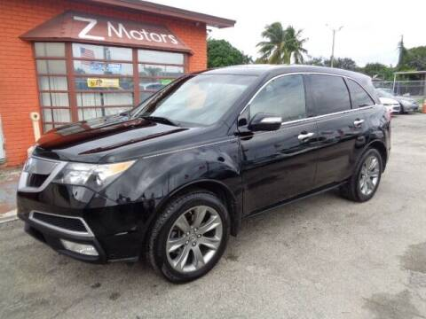 2010 Acura MDX for sale at Z MOTORS INC in Hollywood FL