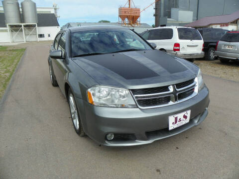 2012 Dodge Avenger for sale at J & S Auto Sales in Thompson ND