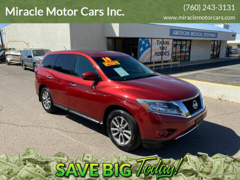 2014 Nissan Pathfinder for sale at Miracle Motor Cars Inc. in Victorville CA