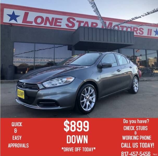 2013 Dodge Dart for sale at LONE STAR MOTORS II in Fort Worth TX