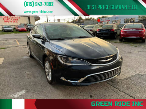 2017 Chrysler 200 for sale at Green Ride Inc in Nashville TN