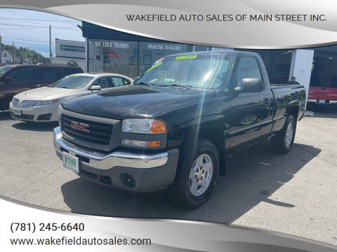 2007 GMC Sierra 1500 Classic for sale at Wakefield Auto Sales of Main Street Inc. in Wakefield MA