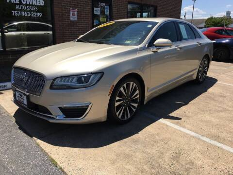 2017 Lincoln MKZ for sale at Bankruptcy Car Financing in Norfolk VA