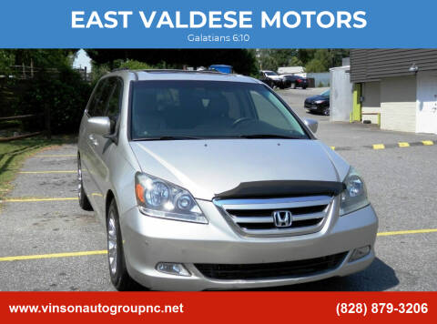 2007 Honda Odyssey for sale at EAST VALDESE MOTORS in Valdese NC