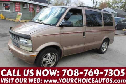2003 Chevrolet Astro for sale at Your Choice Autos in Posen IL