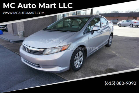 2012 Honda Civic for sale at MC Auto Mart LLC in Hermitage TN
