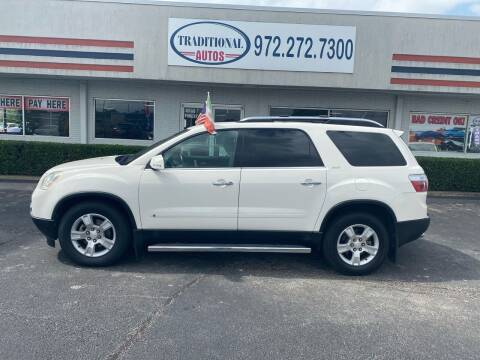 2009 GMC Acadia for sale at Traditional Autos in Dallas TX