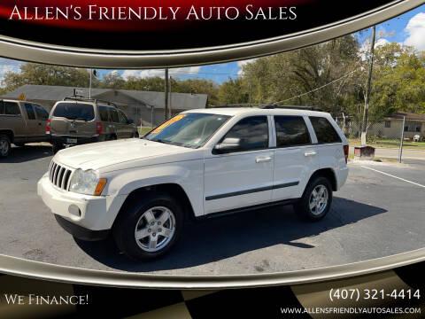 2007 Jeep Grand Cherokee for sale at Allen's Friendly Auto Sales in Sanford FL