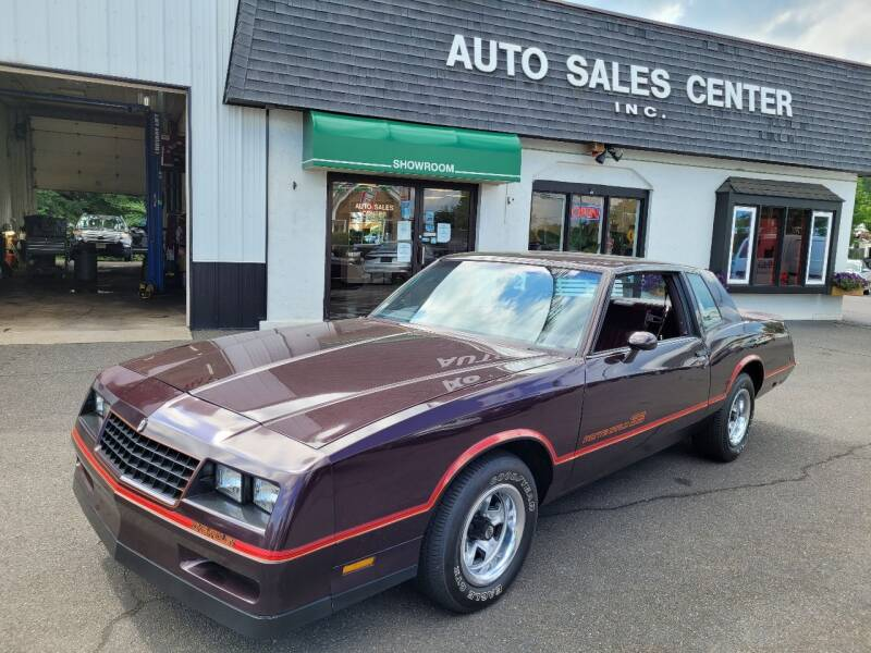 1985 Chevrolet Monte Carlo for sale at Auto Sales Center Inc in Holyoke MA