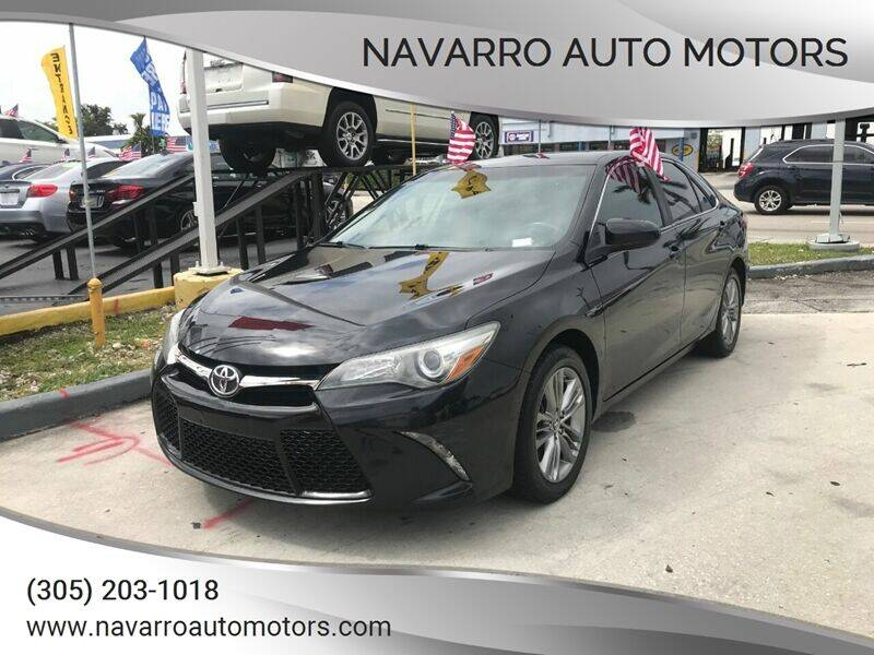 2015 Toyota Camry for sale at Navarro Auto Motors in Hialeah FL