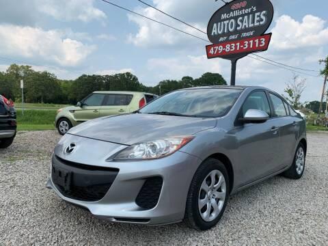 2012 Mazda MAZDA3 for sale at McAllister's Auto Sales LLC in Van Buren AR