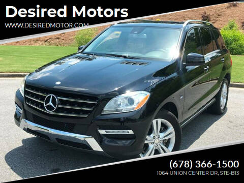 2012 Mercedes-Benz M-Class for sale at Desired Motors in Alpharetta GA