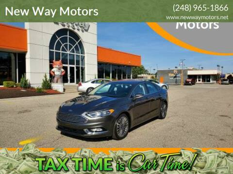 2018 Ford Fusion for sale at New Way Motors in Ferndale MI
