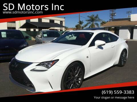2016 Lexus RC 350 for sale at SD Motors Inc in La Mesa CA