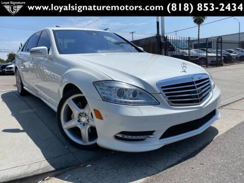 2013 Mercedes-Benz S-Class for sale at Loyal Signature Motors Inc. in Van Nuys CA
