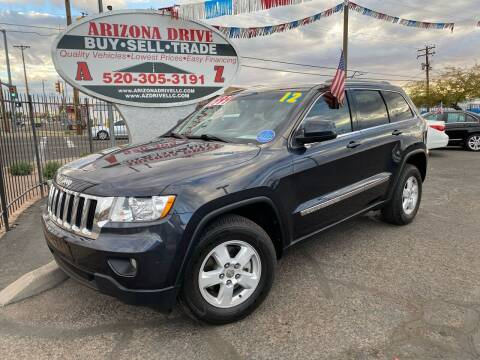 2012 Jeep Grand Cherokee for sale at Arizona Drive LLC in Tucson AZ