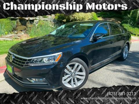 2016 Volkswagen Passat for sale at Mudarri Motorsports - Championship Motors in Redmond WA