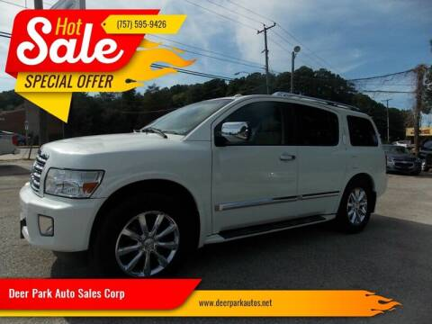 2008 Infiniti QX56 for sale at Deer Park Auto Sales Corp in Newport News VA