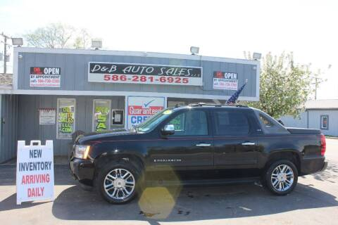 2007 Chevrolet Avalanche for sale at D & B Auto Sales LLC in Washington Township MI