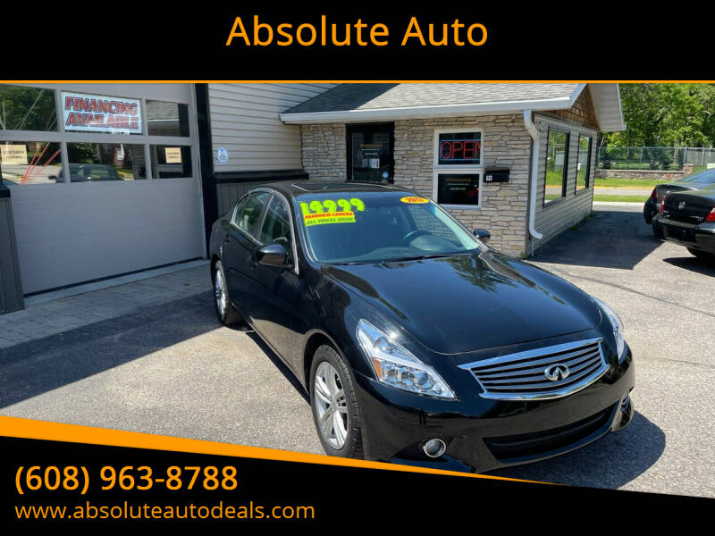 2013 Infiniti G37 Sedan for sale at Absolute Auto in Baraboo WI