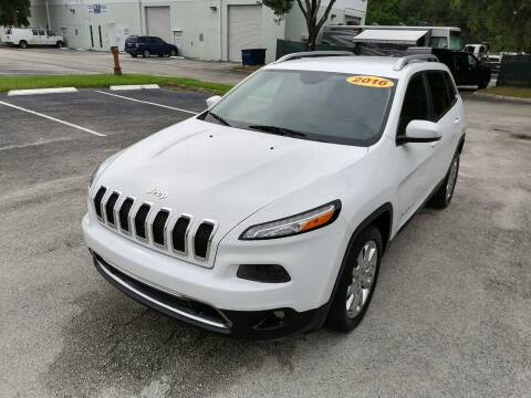 2016 Jeep Cherokee for sale at Best Price Car Dealer in Hallandale Beach FL