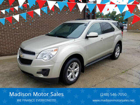 2014 Chevrolet Equinox for sale at Madison Motor Sales in Madison Heights MI